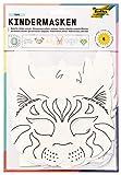 Folia 23209 Lot de 6 masques pour enfants en carton Motifs assortis Blanc À peindre et à décorer soi-même Pour les enfants garçons et les filles Idéal pour les anniversaires d'enfants et les fêtes