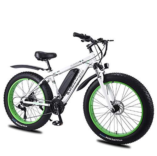 Bicicleta eléctrica e-bike de 26 pulgadas con batería de litio de 8 Ah, bicicleta de montaña Moto de nieve de 27 velocidades Motor de 350 W Bicicleta eléctrica 4.0 Vehículo eléctrico con batería de li