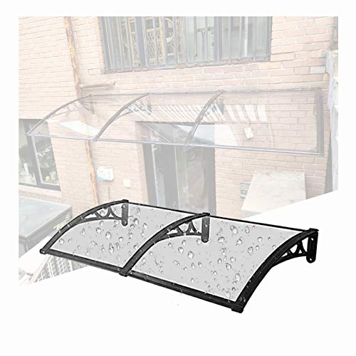 LIANGLIANG Vordach Haustür Überdachung, Schalldicht Anti-Lärm PC-Ausdauerplatine, Benutzt Für Balkon Fenster Werbesäule Regen Und Schnee (Color : Transparent, Size : 240x60cm)