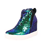CAPE ROBBIN Womens Round Toe Sequined Shoes...