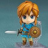 Ruinaza The Legend of Zelda: Breath of The Wild: Link Nendoroid Figura de acción Adorno de Escritorio de Personajes para el hogar Regalos coleccionables para fanáticos del Anime