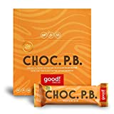 good! Snacks Vegan Chocolate Peanut Butter Protein Bar | Gluten-Free, Plant Based, Low Sugar, Kosher, Soy Free, Non GMO | 15g Protein (12 Bars)