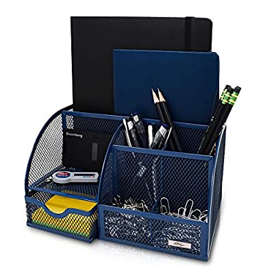 Desk Organizer All4You. Decorative Desk Accessory for Women and Men. Multi-Functional Mesh Desktop, File Organizer and Pen Holder. Office Organizer for Home Office Supplies and Desk Accessories