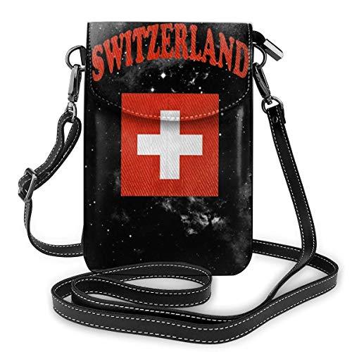 Schweiz Flagge Leder Handy Geldbörse Halter Brieftasche Functional Multi Poet für Frauen