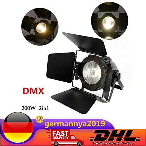 200W LED BüHnenbeleuchtung Stage PAR Licht COB Warm/Cool Weiß 2in1 DMX DJ Licht BüHnenlicht Studioleuchte Mit Panel LED-Digitalanzeige