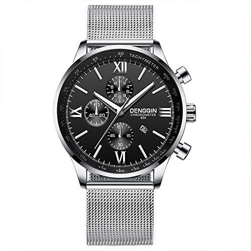 MERSDW Fashion Men's Ultra-Thin Watch, Stainless Steel Slim Men Watch,Men's Fashion Minimalist Quartz Watch Analog Date Wrist Watch Luxury Sports Casual Watches (D)