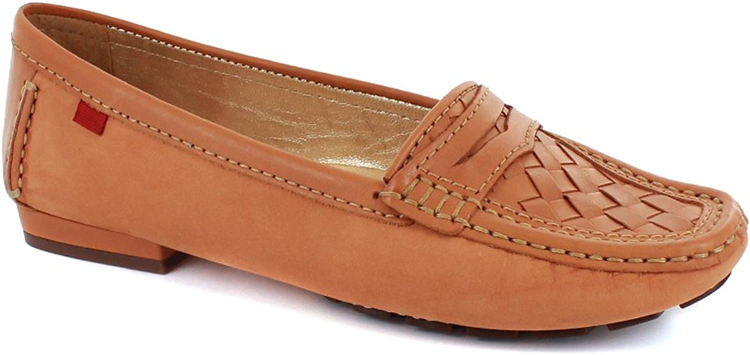 Marc Joseph New York Womens Genuine Leather Made in Brazil Weave Loafer