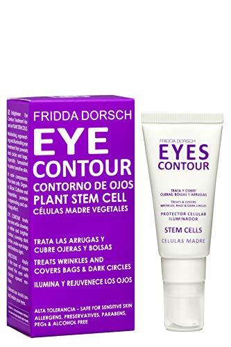 Fridda Dorsch Eyes Contour - Contorno de Ojos con Color Iluminador, Crema Hidratante Antiarrugas para Tratar Bolsas y Ojeras, con Células Madre Vegetales, 15 ml