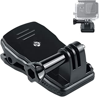 GoPro アクセサリー クリップマウント 360°回転式 バックパック取り付け ハンズフリー 手ぶら撮影 gopro Hero6/5/4/3/2 ゴープロ スポーツカメラ アクションカメラ 対応 ベルト・ショルダー・リュックに 2年保証