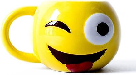 Preisvergleich für Emoji Kaffeebecher Emoticon Emoji Tasse Smiley Wifi Love Frühstückstasse Tee (92053-9003-0000)