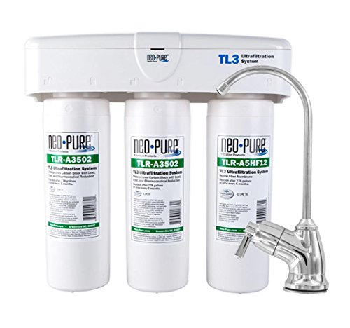 Undersink Drinking Water System Ultrafiltration 3-Stage Quick Change