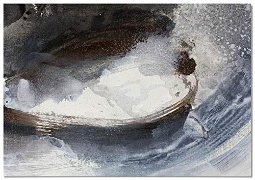 Panorama Póster Pintura Abstracta Agua Blanco y Negro 100x70cm - Impreso en Papel 250gr - Póster Pared - Láminas para Enmarcar - Cuadros Decoración Salón - Pósters Decorativos