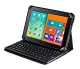 Navitech Fall/Abdeckung/kabellose Tastatur/Hülle mit Standfunktion & QWERTZ Bluetooth Keyboard für das ASUS MeMO Pad 8