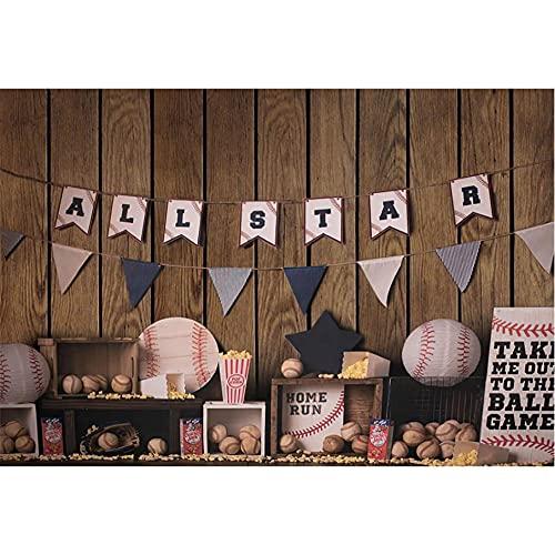 Fondo de fotografía de Tienda de béisbol Tablero de Madera bebé recién Nacido Fiesta de cumpleaños Retrato telón de Fondo Estudio fotográfico sesión fotográfica-220x150cm