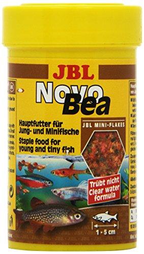 JBL NovoBea 30160 Alleinfutter für kleine Aquarienfische und Jungfische Flocken, 100 ml