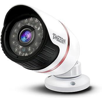 """TMEZON Hohe Auflösung 1/3""""AHD 2.0MP 1080P Überwachungskamera für innen und außen,IR-Cut 24IR LEDs 65ft 3.6mm Objektiv Nachtsicht mit BNC Kabel und Netzadapter muss mit AHD DVR verwendet Werden"""