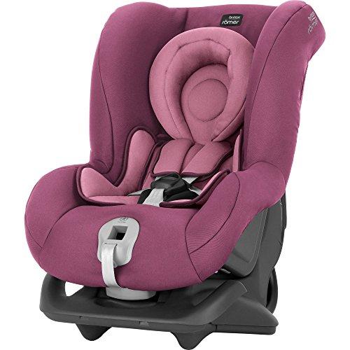 Britax Römer Reboarder Kindersitz 0 - 4 Jahre | 0 - 18 kg | FIRST CLASS PLUS Autositz Gruppe 0+/1 | Wine Rose