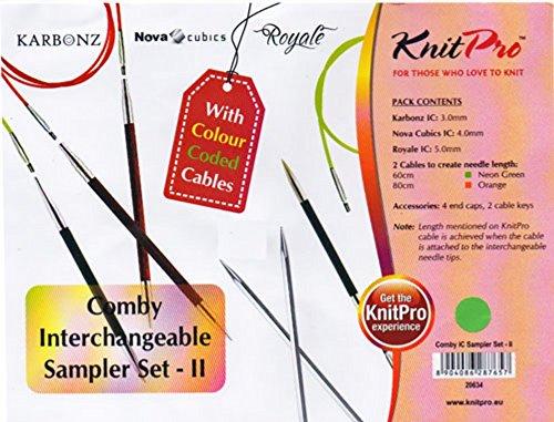 Preisvergleich Produktbild KnitPro Comby 20634 Sampler-Set mit verschiedenen Nadeln,  inkl. Etui