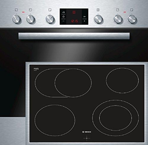 Bosch HND22PS55 Backofen-Kochfeld-Kombination / A / 66 L / 3D Heißluft Plus / 1 Zweikreis-Kochzone / edelstahl