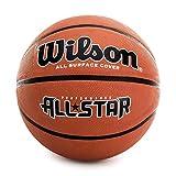Wilson, Pallone da basket, All Star, Misura 7, Arancione, Gomma, Uso all'interno e all'esterno, WTB4041XB07