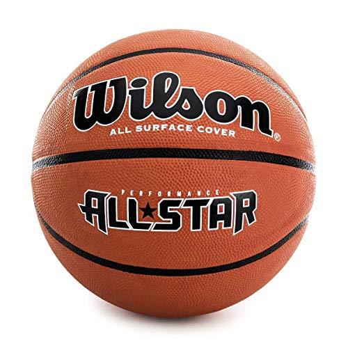 Wilson WTB4041XB07 Pelota de Baloncesto All Star Caucho Interior y Exterior, Unisex-Adult, Naranja, 7