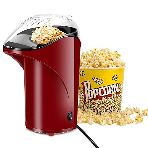 Lowest Price! CHENJIU Uniform Hot Air Popcorn Maker 1000W Popcorn Machine Pop-Up Slide No Oil Popcor...