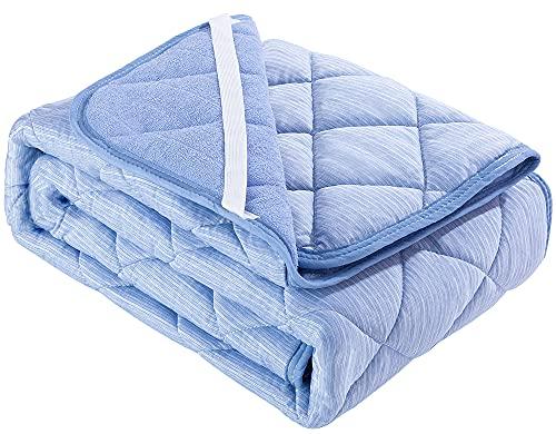 敷きパッド 極涼 接触冷感 QMAX0.5夏 ひんやり – sunnyskies 涼感 3.8倍冷たい 瞬間冷却 抗菌防臭 吸水速乾 丸洗い ベッドパッド 2年品質保証