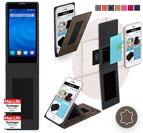 Hülle für Huawei Honor 3C 4G Tasche Cover Hülle Bumper | Braun Wildleder | Testsieger