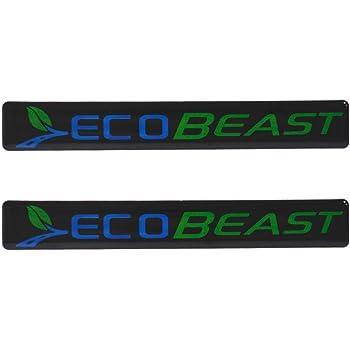 1Pcs ECOBEAST 4WD Ecoboost Decals Fender 3D Car Sticker Emblem Replacement For 2011-2019 F150 Black Blue Green