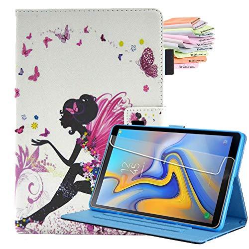Billionn Funda para Samsung Galaxy Tab A7 10.4 2020, piel sintética, función atril para Galaxy Tab A 7 (SM-T500/T505/T507 2020) con apagado automático/despertar, mariposa chica