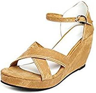 Women's Leather Thong Sandal with Golden Design Red Color (10)