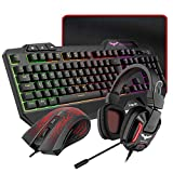 HAVIT Gaming Tastatur {DE Layout} & Maus & Headset &
