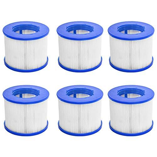 CosySpa Ersatz Whirlpool Filter | hochwertiger Filter für Pool als Standard oder Einschrauben erhältlich | Einzeln, 6er- oder 12er-Set erhältlich (Einschrauben, 6er-Set)