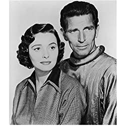 Patricia Neal and Michael Rennie in a publicity photo from The Day the Earth Stood Still