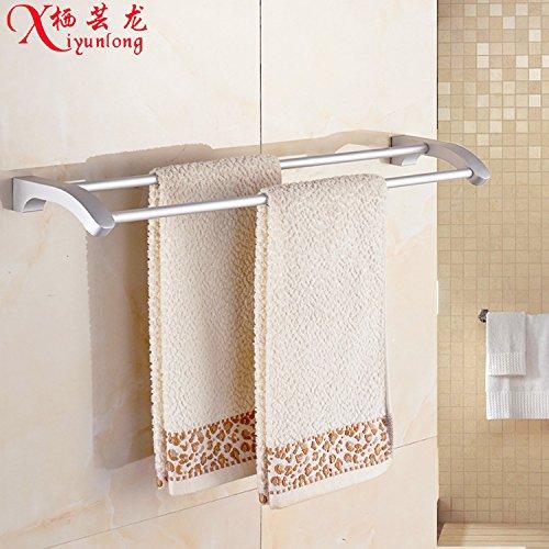 MBYW toallero Moderno de Gran Capacidad de Carga Toallero de baño de Moda Accesorios de Hardware del baño Espacio Aluminio toallero baño Barra de Toalla Doble Hardware de baño Lote Mixto