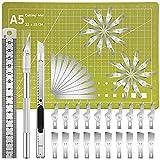 DIYSELF Precision Knife Upgrade Carving Craft Knife Hobby Knife Kit Utility Knife Set 40 Spare Craft Knife Blades for Art, Scrapbooking, Stencil, Architecture Modeling, Scrapbooking