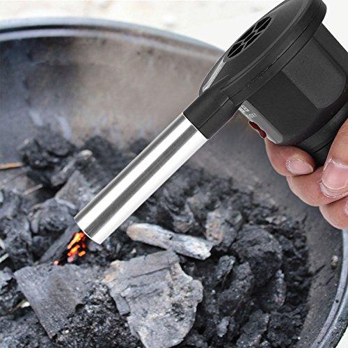 Delaman Luftgebläse Tragbarer Batteriebetriebener BBQ Ventilator, Warm Im Winter Für Outdoor Camping Picknick Holzkohlegrill Grillen
