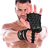 PRIM8 Weight Lifting Gloves with Wrist Support for Gym Workouts, Pull Ups, Cross Training, Weightlifting, Calisthenics, WOD, Exercise - Silicone Padding - Great Hand Grip & No Calluses Men & Women