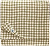 Linen & Cotton Mantel de Tela Mesa Pequeña Centro a Cuadros Estella - 100% Lino, Blanco Beige (100 x 100 cm) Cuadrada Festivo para Casa Hogar Comedor Restaurante Cafetería Verano Primavera Pascua