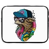Sacoche pour Ordinateur Portable Sac de Protection DJ Music Cat Porte-Documents...