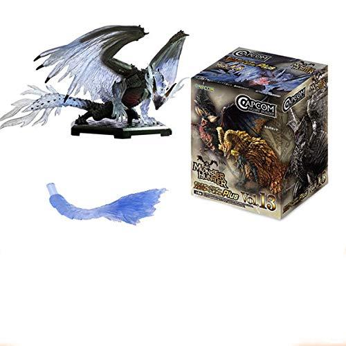 No Monster Hunter World Vol13 Extinguido Dragón Dragón de Acero Linterna Fantasma Dragón Llama Rey Dragón Xuanhui Dragón Caja de Mano Huevo-[Unboxing] Black Dragon-Critical