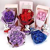 TUDUZ DIY Handgemachte Seife Rose Blume Simulationsrosen Flora Duft Seife Rose Blume, Geschenk Für...