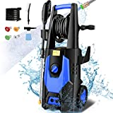 mrliance 3600PSI Electric Pressure Washer 2.4GPM Power Washer 1800W High Pressure Washer Cleaner Machine with 4 Interchangeable Nozzle & Hose Reel, Best for Cleaning Patio, Garden,Vehicle (Blue)