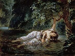 Posterazzi Death of Ophelia Poster Print by Eugene Delacroix, (9 x 12)