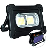LED Portable Work Light, 80W Solar Floodlight 1200 Lumen with Magnet and SOS