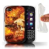 Stuff4 Gel TPU Hülle/Hülle für BlackBerry Q10 / Super Hornet Düsenjäger Muster/Krieg Schlacht Video Spielen Kunst Kollektion