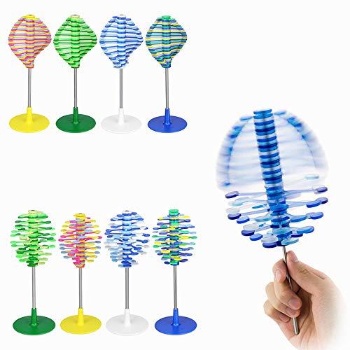 VIDOO Revolving Lollipop Creative Decompression Art Lollipopter Helicone Juguetes Infantiles Escritorio Decoración- Amarillo