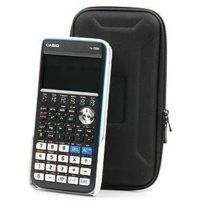 DURAGADGET Funda rígida Negra para calculadora Casio FX-570ES-N, FX-7400G Plus, FX-7400GII, FX-7400GII-L-EH, FX-82 DE Plus