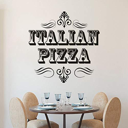 Italienische Pizza Zeichen Wandaufkleber Pizza Shop Fenster Aufkleber Restaurant Innendekoration Pizza Shop Vinyl Wand Art Deco Wandbild A8 57x57cm