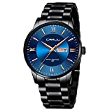 CRRJU Business Work Watches for Men,Casual Calendar 3ATM Waterproof Quartz Watches,316L Solid Stainless Steel Band Minimalist Watch with Box